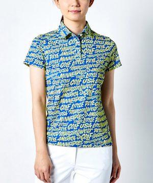 【ENVOY/Ximena Jimenezコラボ】【ECO】レタリングプリント半袖台襟ポロシャツ【サンスクリーン】