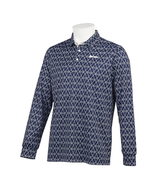 クロスライン総柄プリントシャツ