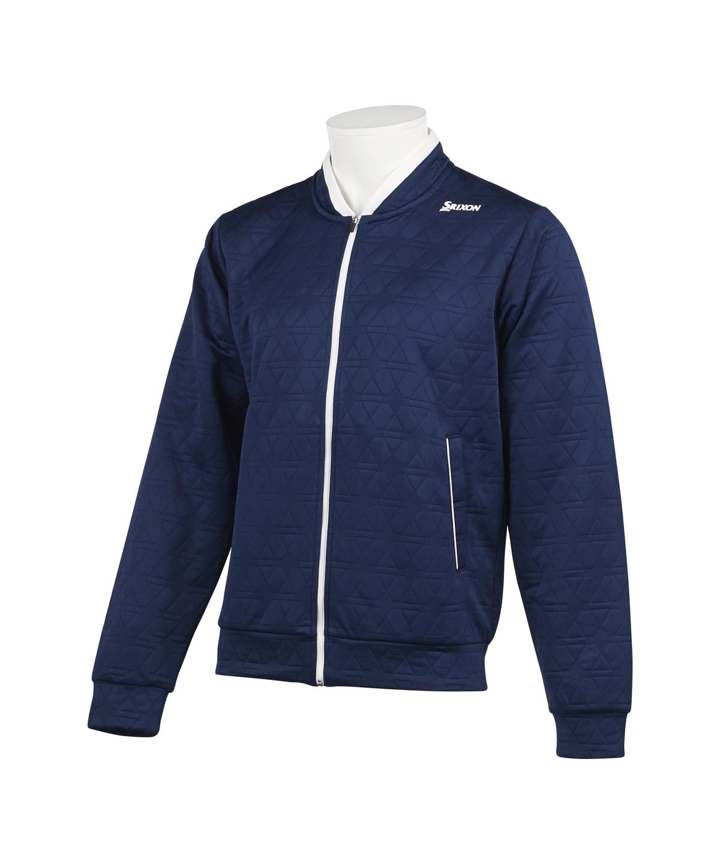 クロスニットキルトデザインジャケット