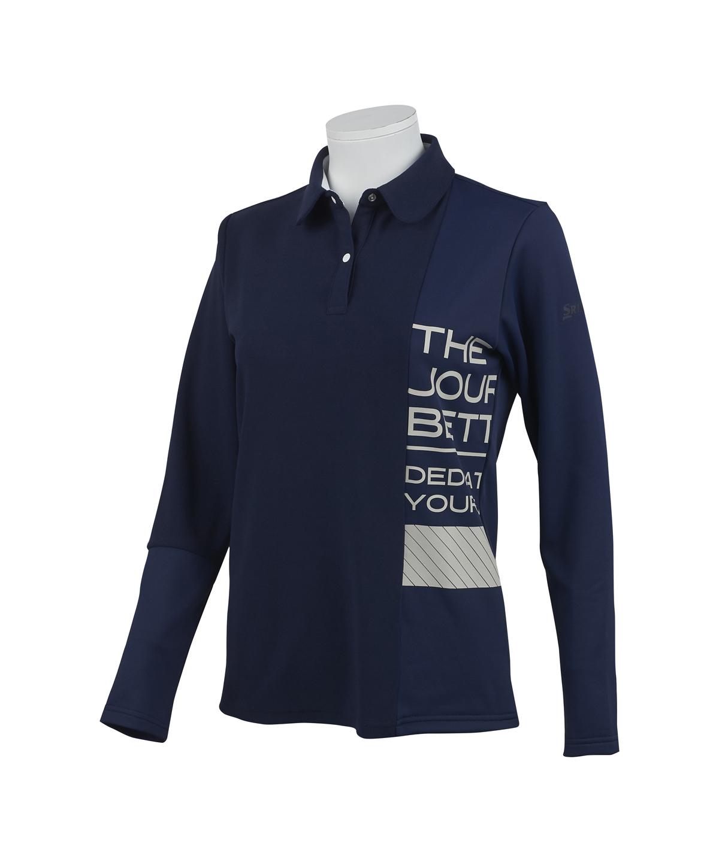 コンパクトパイルプリントシャツ