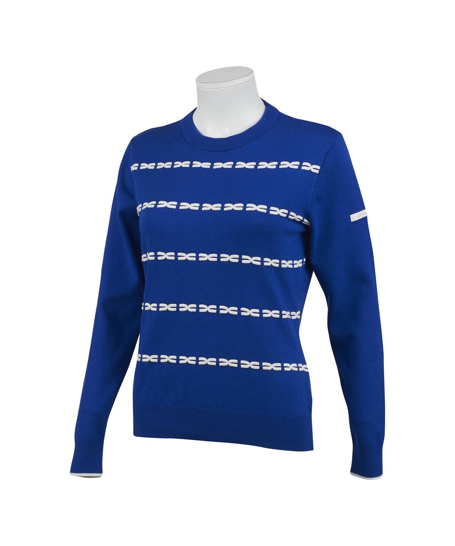 クロスモチーフクルーネックセーター