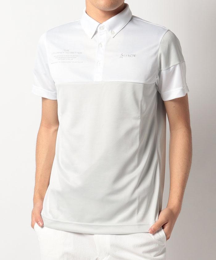 タイポグラフィバイカラーシャツ