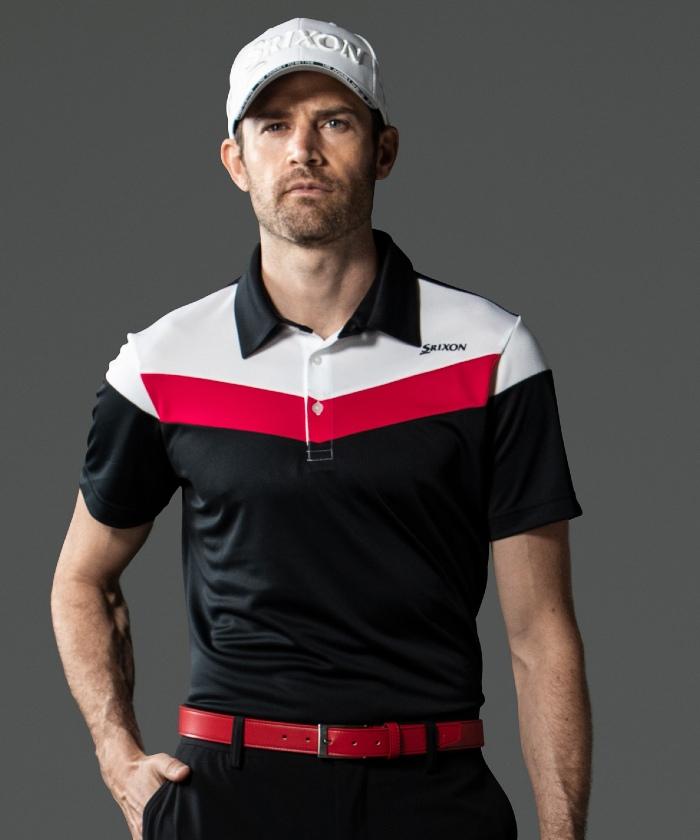 【2021全米オープン 松山英樹プロ着用】カラーブロックプロモデルシャツ