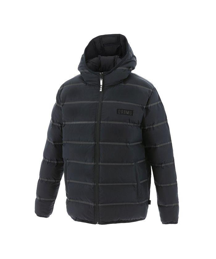 【防風・はっ水】URAパデットボーダージャケット |軽量|中綿