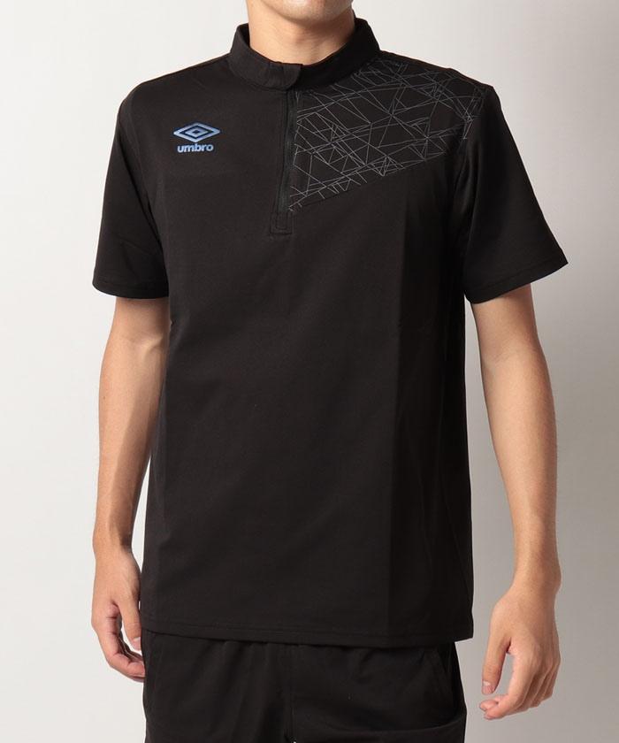 半袖ハーフジップシャツ 吸汗速乾・ストレッチ ハーフジップ