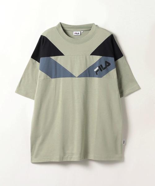 FILA変形切替Tシャツ