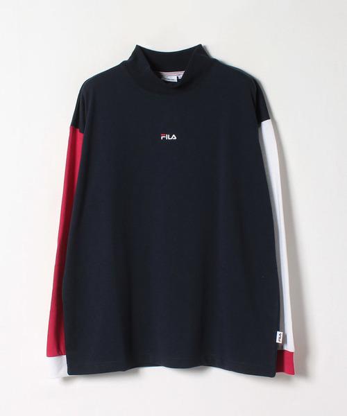 モックネックロングTシャツ