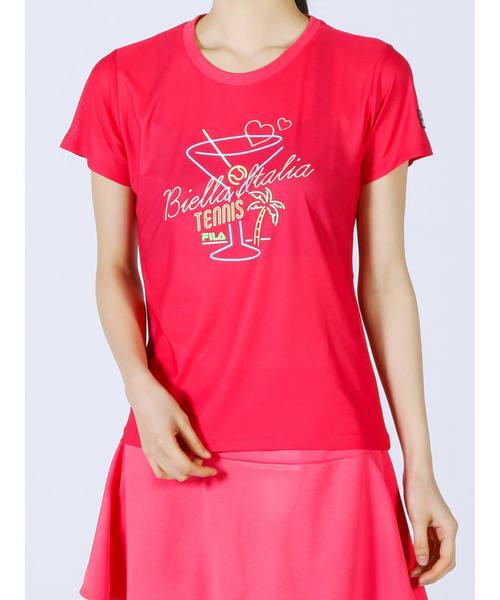ウィメンズ グラフィックTシャツ<テニス>(VL2136)