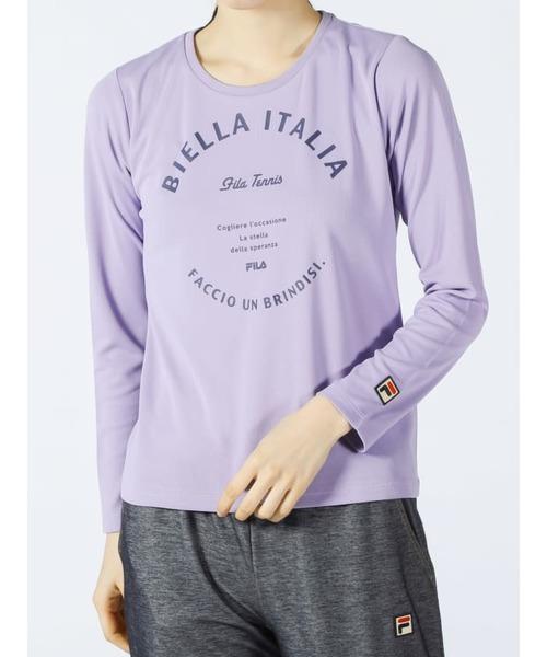 ウィメンズ ロングスリーブグラフィックTシャツ<テニス>(VL2106)