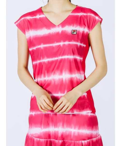 ウィメンズ ノースリーブゲームシャツ<テニス>(VL2132)