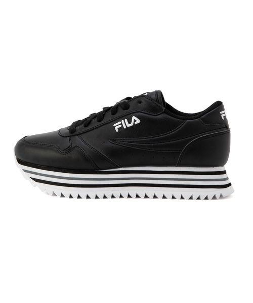【FOOTWEAR】フィラ オルビット ストライプ ウィメンズ  ブラック / ホワイト