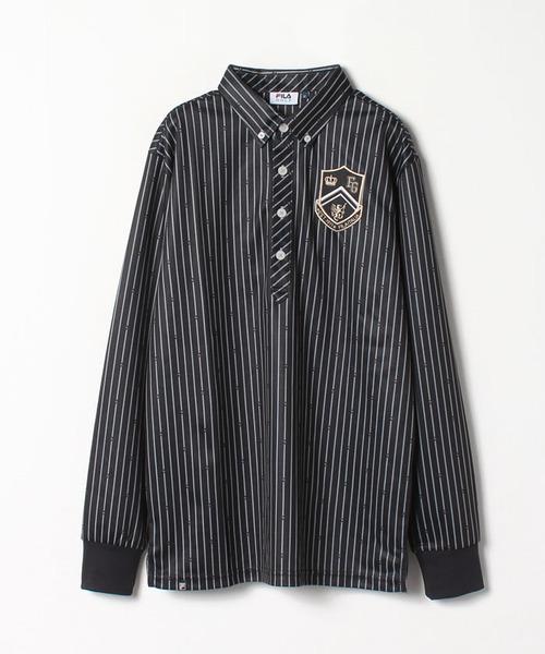 長袖プリントシャツ