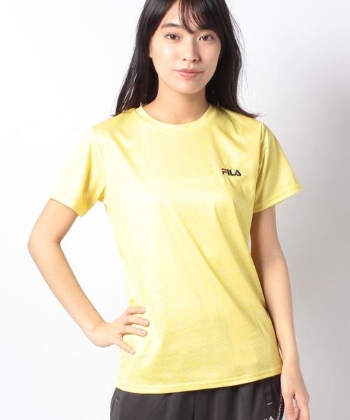 【FILA】PEメッシュバブル柄Tシャツ