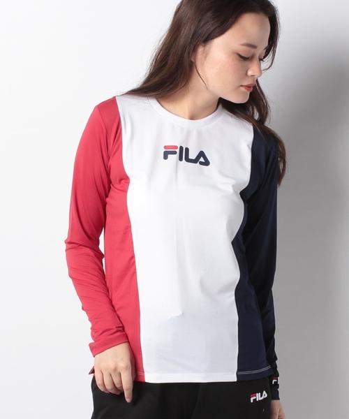 【FILA】ドットメッシュ ロングTシャツ