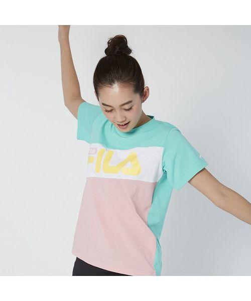 【FILA】MVS天竺 切替Tシャツ