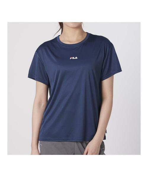 ウィメンズ ロゴ捺染Tシャツ<スイム>(220721 )