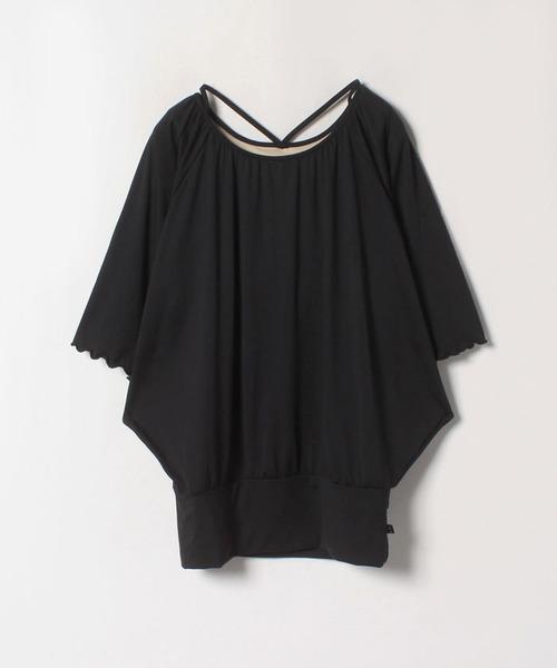 【フィラ】カップ付ドルマンロングTシャツ