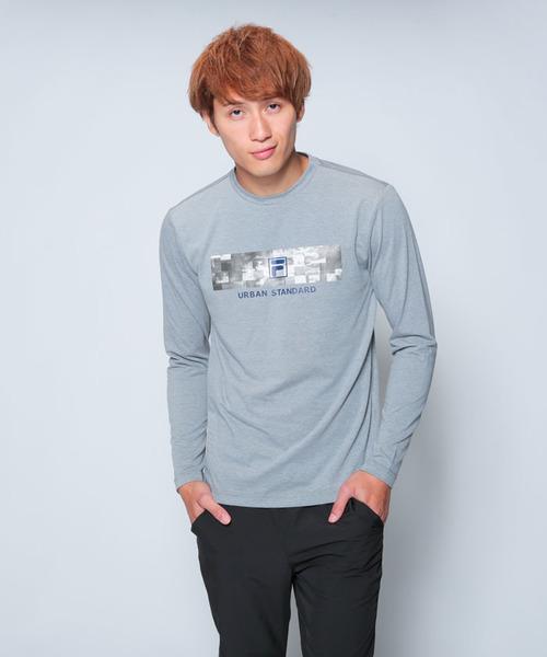 FILA【MEN'S】T/Cベア天プリントロンT