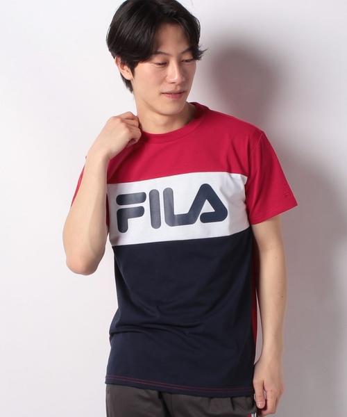 T/Cフロント切替半袖Tシャツ