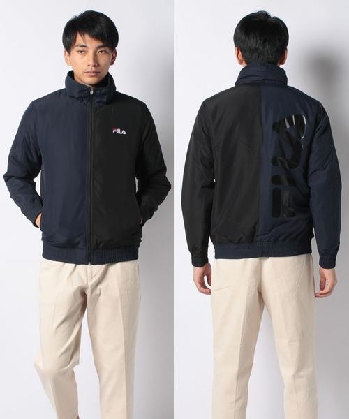 【紳士】カラーブロック 中綿ジャケット