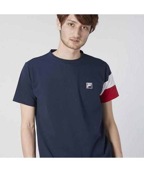 【FILA】MVS天竺 袖切替Tシャツ