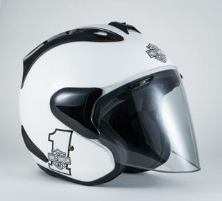 スポーツナンバーワン3/4ヘルメット(ホワイト)