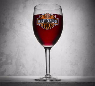 バー&シールドロゴ・ワイングラス