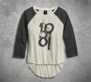 1981七分袖ベースボールTシャツ