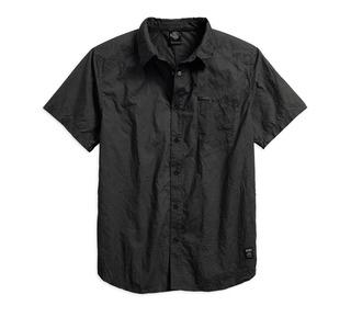 ウォッシュ&リンクルシャツ