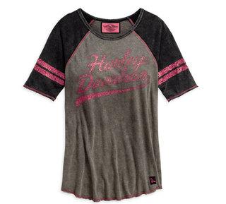 ピンクレーベル・ラグランスリーブ・Tシャツ