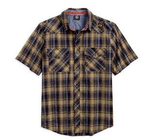 ウォッシュドプレイドシャツ