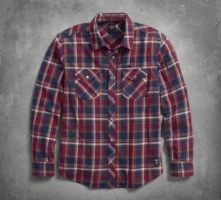 プレイドコットンシャツ
