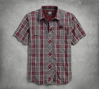 プレイドコットンドビーシャツ