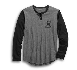 HDMC #1スリムフィット・ベースボールTシャツ