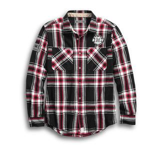 HDMC #1スリムフィット・プレイドシャツ