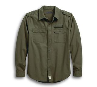 HDMC・キャンバス・スリムフィットシャツ