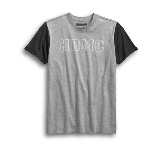 HDMCカラーブロック・スリムフィット・Tシャツ