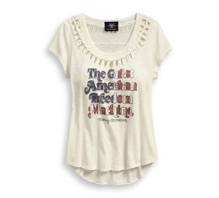 ブレイデッドアクセント・アメリカーナ・Tシャツ