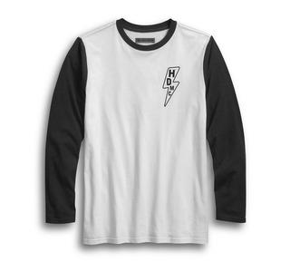 ライトニング・ボルト・スリムフィット・ベースボールTシャツ