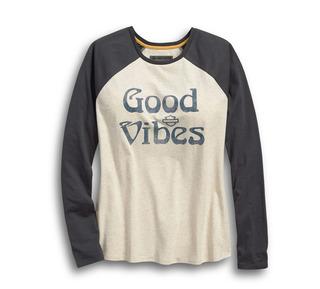 グッドバイブス・ベースボール・Tシャツ
