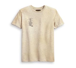 スキーマティック・スリムフィット・Tシャツ