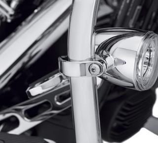 LEDフォグランプエンジンガードクランプキット・クローム