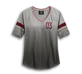 ディップダイ・スラブ・ベースボール・Tシャツ