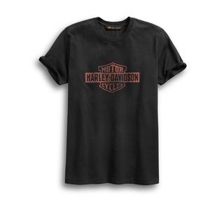 クラックプリント・スリムフィットTシャツ