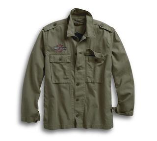 ロゴ・スリムフィット・シャツジャケット