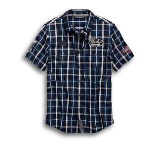 マルチパッチ・スリムフィットプレイドシャツ