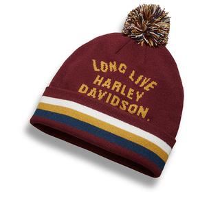 「Long Live」ポンポン付きニット帽