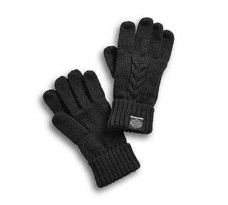 ケーブルニット手袋