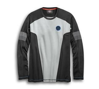 パフォーマンス・カラーブロック・ロングスリーブ・Tシャツ