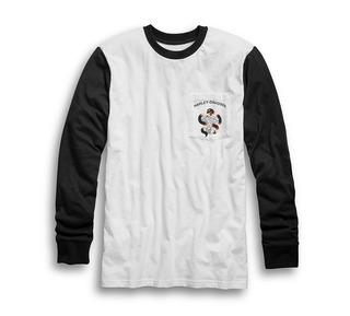 ポケット・スリムフィット・ベースボール・Tシャツ